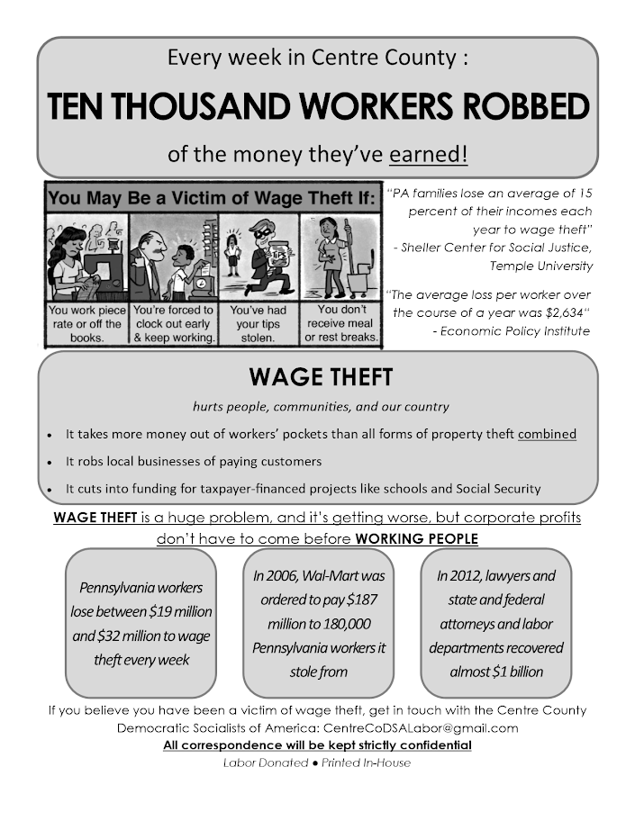 Wage Theft Flyer